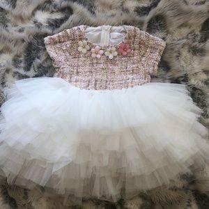 Baby Girl Pink Tweed Tutu Dress SZ9M